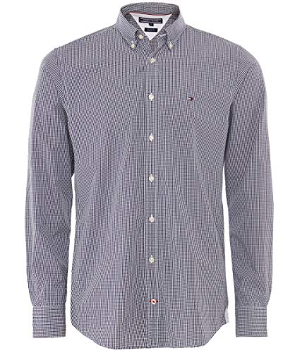 Tommy Hilfiger Herren CORE Check Shirt Freizeithemd, Mehrfarbig (Peacoat/Bright White 902), Large
