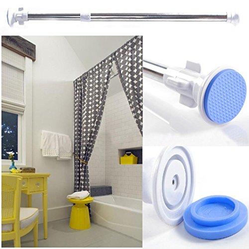 Hunpta Tringle à rideau de douche télescopique extensible de 70 à 120 cm en acier robuste (bleu)
