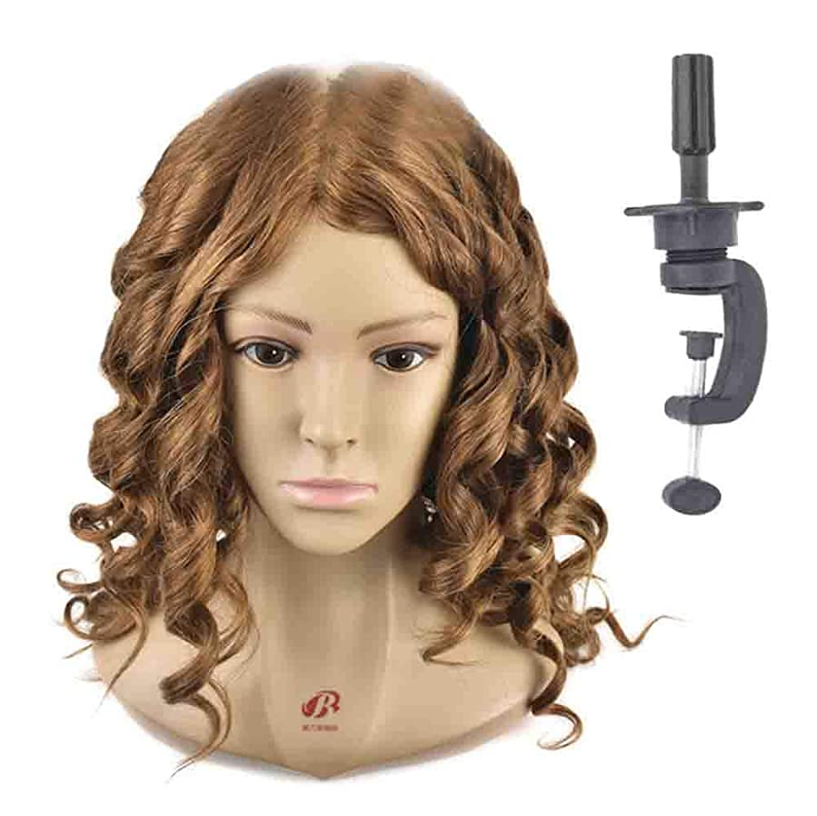 エアコンガラスコンドームヘアマネキンヘッド練習ディスク髪編組ヘッドモデル理髪店学校教育かつらヘッドバンドブラケット