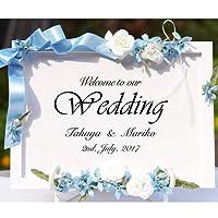 ウェルカムボード ウェディング 結婚式 ブライダル サムシングブルー 結婚祝い かわいい おしゃれ