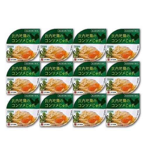 比内地鶏のコンソメじゅれ 85g×12缶セット こまち食品 無添加のコンソメスープ ゼリー寄せ