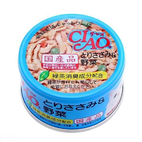 チャオ ホワイティ とりささみ&野菜 85g×24缶