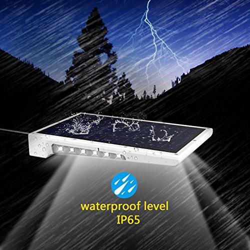 CREATIVE DESIGN 46 LED Solar Lights Outdoor with Mounting Pole, 4 Modes Solar Gutter Light Motion Sensor Light Wall Light for Patio, Barn,Porch,Garage,Stairs, Pack of 2