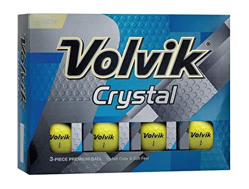 Volvik Crystal Golfbälle, Gelb