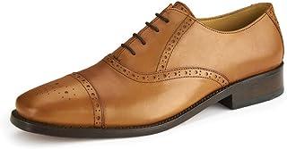 Samuel Windsor Men's Handmade Goodyear Welted Sandhurst Leather Brogue Shoe