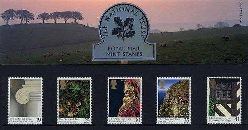 1995 The National Trust confezione commemorativa n. 256-Royal Mail-Francobolli