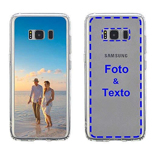 MXCUSTOM Funda Personalizada para Samsung Galaxy S8, Carcasa Personalizado Teléfono móvil Transparente con Foto Imagen Texto Diseña [Parachoques Blando+Panel Posterior Dura] (CHT-CR-P1)