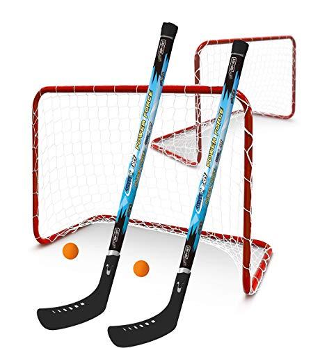Hockey Set Street und Feldhockey 2 Tore 2 Bälle 2 Hockeyschläger