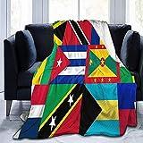 K.e.n Karibik und Westindien Nationalflagge Ultra-Soft Micro Fleece Decke Anti-Pilling Leichter Plüsch Gemütlich