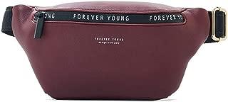 YWSCXMY-AU New Women Fanny Pack Multi-Function Chest Bag Ladies Belt Bag Banana Female Waist Pack (Color : Burgundy)
