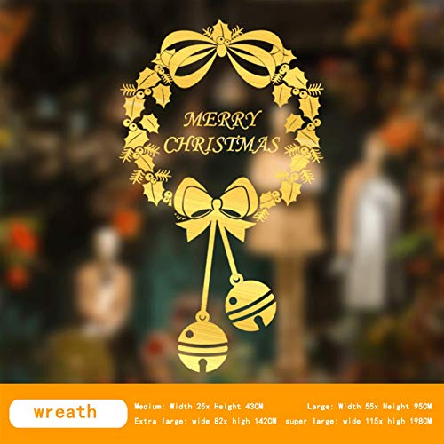 LLMKChristmas Decorations  Christmas Window Glass Door Stickers New Year Decoration Jewelry Gold Shop Clothing Shop Scene Layout Window Grilles Can Better Increase Your Christmas Atmosphere, Mak