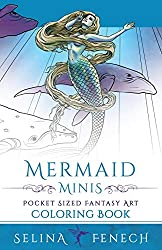 Mermaid minis coloring collection by Selina Fenech