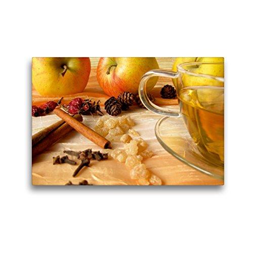 CALVENDO Premium Textil-Leinwand 45 x 30 cm Quer-Format Apfeltee mit Gewürzen, Leinwanddruck von Heike Rau