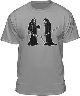 Duo Grim Reaper Dual Battle Scythe Men's Humor Skull T-Shirt