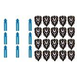 Sharplace Cráneo de Repuesto de Cola de Vuelo de Forma Estándar de 20 Piezas con Protector de 9 Dardos