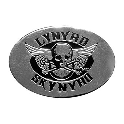 Lynyrd Skynyrd MC Club on Silver STICKER, Original Licensed Symbol on Embossed METAL STICKER - Medium 2' Inches