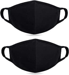 Fine dust mask, Anti-dust Flu Protection Best Warm Windproof Mask - 100% Cotton Face Masks Comfy Respirator - Mouth Masks Anti Pollution Washable Reusable Pollen Masks for Men Women 2 Pieces
