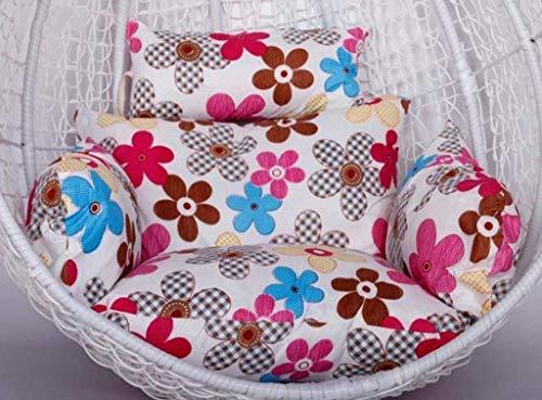 JBNJV Almohadillas para Cojines para sillas Colgantes, 100% algodón Acolchado, para Colgar en ratán, para Colgar, cojín para Asiento de Huevo, con cojín para jardín, Patio, Silla giratoria de ratá