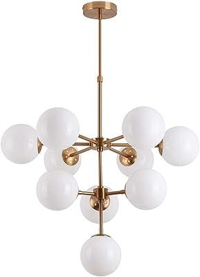 Lampenschirm Glasschirm große Glaskugel weiß 20 cm für Hängelampen Deckenlampen