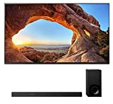 Sony KD85X85J 85' 4K High Definition Resolution LED-Backlit LCD Smart TV with a Sony HT-Z9F 3.1 Channel Bluetooth Built-in Wi-Fi Dolby Atmos Soundbar (2021)