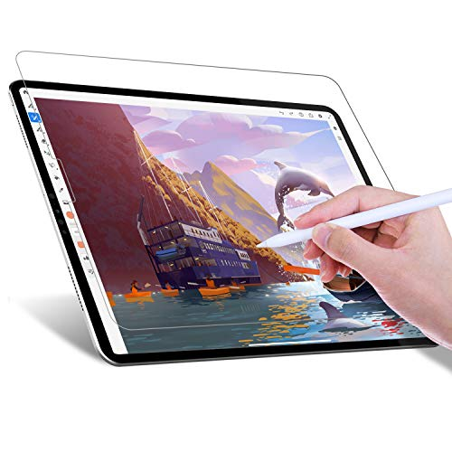 JETech Paperfeel Screen Protector for iPad Pro 11-Inch (2020 and 2018 Model), Anti-Glare, Matte PET Paper Texture Film for Drawing