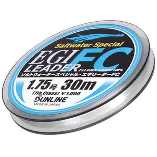 サンライン(SUNLINE) リーダー ソルトウォータースペシャル エギFC フロロカーボン 30m 1.75号 ナチュラル...