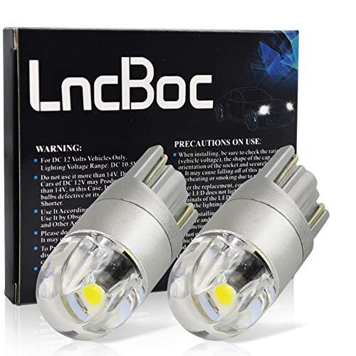 LncBoc T10 LED Ampoules de Voiture Lampe Haut illuminum W5W 2LED 3030 Chipset Ampoule 194 168 Feux de positionnement latéraux plaque d'immatriculation DC 12V 6500K Blanc 2Pcs