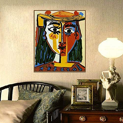 Moderne kunst schilderij kubisme Wall Art Decor posters en prints Wall Art Canvas schilderij woonkamer Home Decor Home decoration kunst aan de muur / 60x80cm geen frame