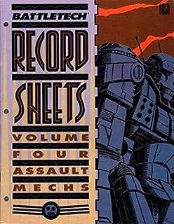 Battletech Record Sheets: Volume Four (Assault Mechs)