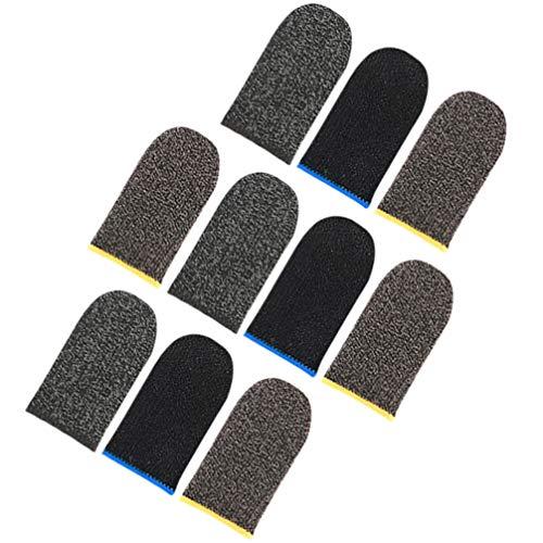 HEALLILY Protectores de Mangas de Dedos Controladores de Dedos para Teléfonos Móviles Cunas de Dedos para Juegos de Teléfonos Móviles 5 Pares (Color Rsndom)
