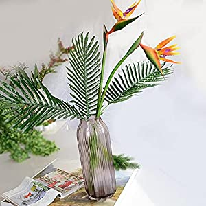 Artificial and Dried Flower Artificial Plants Feel Paradise Bird Fake Flower Cloth Wedding Living Room Bedroom with Flowers Decoration – ( Color: Orange )