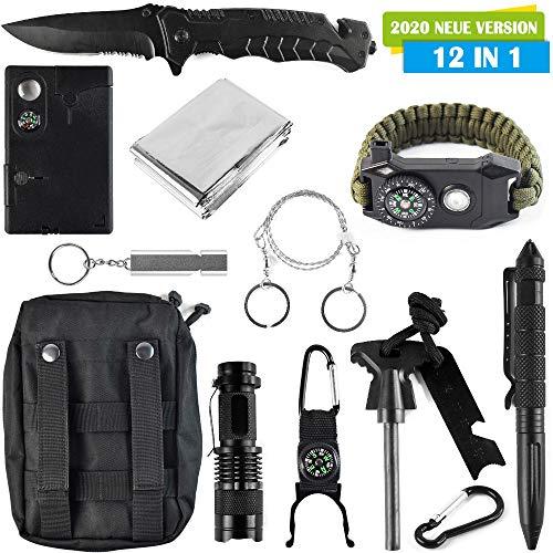 Survival Kit 12 in 1 - Outdoor Set Mit Survival Ausrüstung - Für Outdoor, Überleben, Dschungel