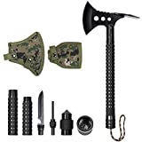 LIANTRAL Survival Camping Axe, Folding Multi-Tool Tactical Hatchet Kit with Nylon Sheath for Outdoor...