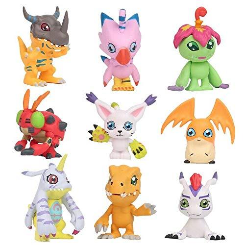 New Gift Idea 9 pcs Digital Monster Adventure Agumon Gabumon Mini PVC Figures Set Digimon Toys...