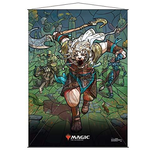Ultra Pro Oficial Magic: The Gathering – Pergaminos de pared de vidrio manchado (68 x 95 cm) (Ajani)