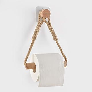 Baño Portarollo Papel Higiénico Sujetador de Papel Montura de Pared, Accesorio Retro de rollo de papel
