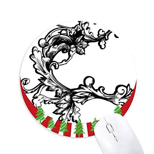 Barock Dekoration Blume Moderne Muster Rund Gummi Maus Pad Weihnachtsdekoration