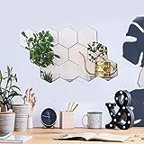 Espejos Pegatinas de Pared Adornos Decoración 12PCS Pegatinas para Espejos Adhesivos de Acrílico Hexagonales Azulejos para Hogar Sala de Estar Dormitorio(20 * 17Cm)