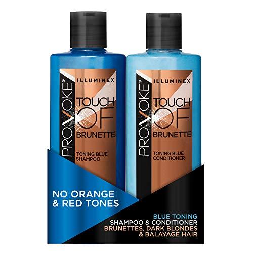 Pro:Voke Illuminex Touch of Brunette Blue Toning Shampoo und Spülung, 2 Stück