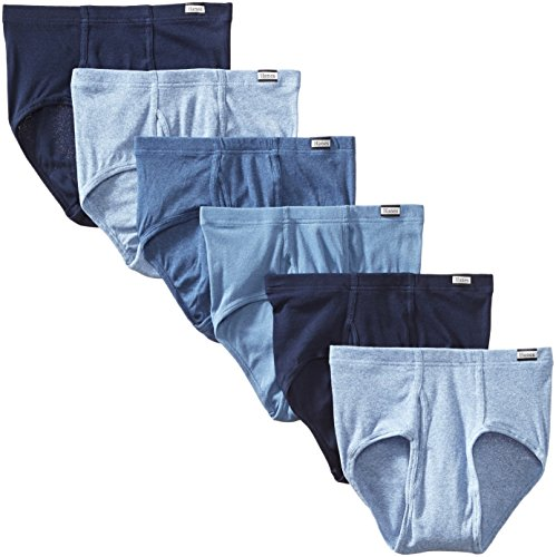 Hanes Men's 6-Pack Tagless No Ride Up Briefs with ComfortSoft Waistband, Assorted, Large