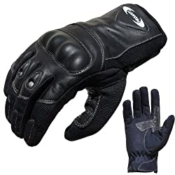 PROANTI Motorcycle Gloves Summer Motorcycle Gloves (size XS - XXL, black, short) - XL