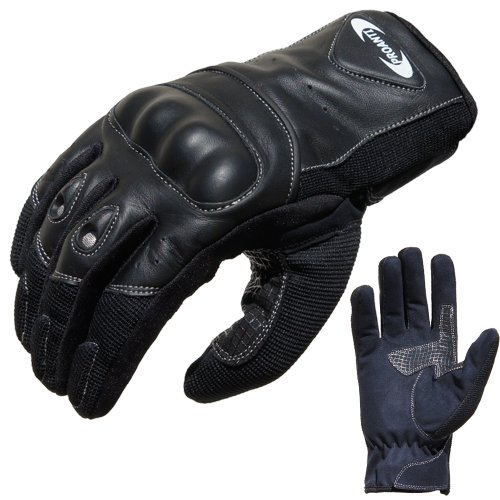 Motorradhandschuhe Sommer PROANTI® Motorrad Handschuhe (Gr. XS - XXL, schwarz, kurz) - XL
