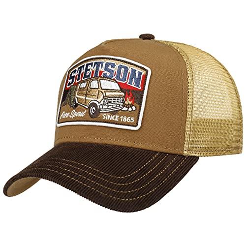 Stetson Gorra Trucker by The Campire Hombre - de Malla Beisbol Snapback Cap Snapback, con Visera Verano/Invierno - Talla única marrón