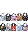 Tris&Ton Pack Baberos Bandana Babero impermeable sin mangas para bebe niño niña con dibujos animados (Trisyton)… (Azul)