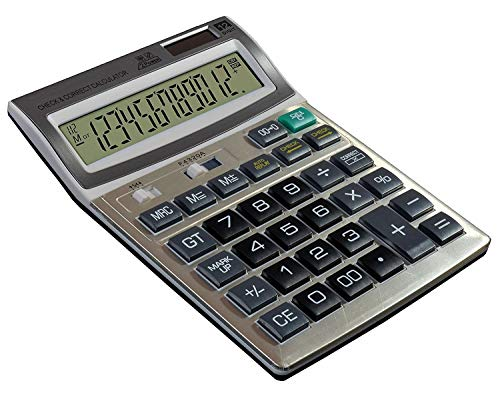 SaleOnTM Financial and Business Office Calculator with Large LCD Display(Black)-671