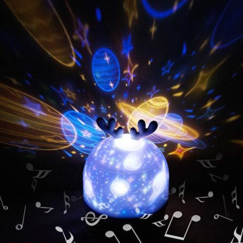 Hepside Proyector Estrellas, 360°Rotación Proyector