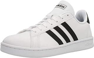 حذاء جراند كورت رياضي للنساء بلون ابيض مقاس 7 UK (40 2/3 EU) من اديداس