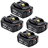 Akkopower 四個セットマキタ 互換バッテリー BL1860B マキタ 18v バッテリー18v 6.0AhLED残量表示付き bl1860b BL1830 BL1840 BL1850 BL1830b BL1840b BL1850b BL1860b完全対応 電動工具用 リチウムイオン電池
