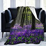 xianjing Fleece Throw Blanket, Lavender Tree Warm Soft Microfiber Blankets, Lightweight for Couch, Bed, Sofa All Seasons