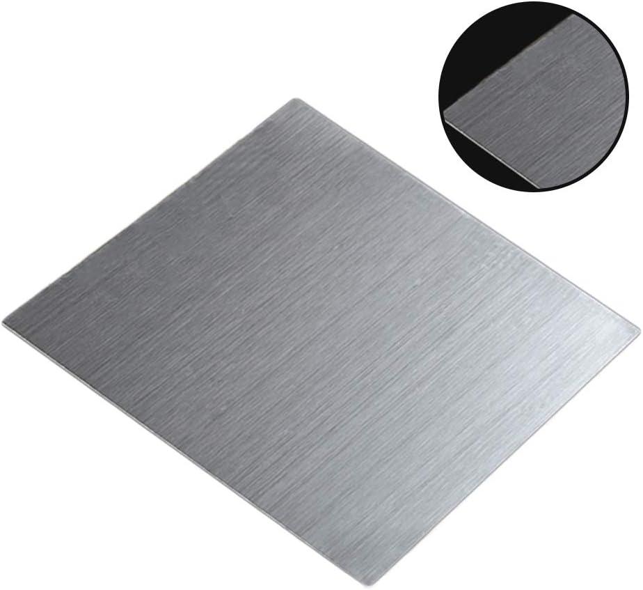 MHUI Chapa de Acero Inoxidable 200X200mm De Espesor: 3mm para El Proyecto De Manualidades De Bricolaje Intermitente